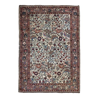 Antique Persian Floral Rug For Sale