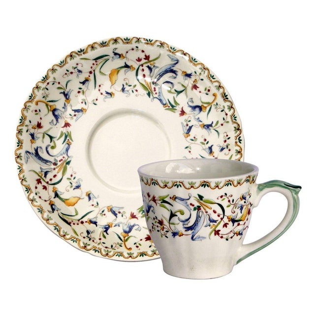 Looking for that special holiday gift? We are offering a set of 2 Gien Toscana cups & saucers new in Gien's original...