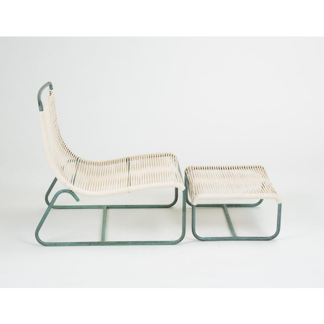 Sleigh Chair and Ottoman by Walter Lamb for Brown Jordan For Sale - Image 9 of 13