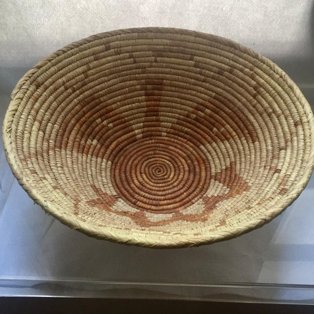 Vintage Native American Apache Pima Coil Basket - Image 2 of 11