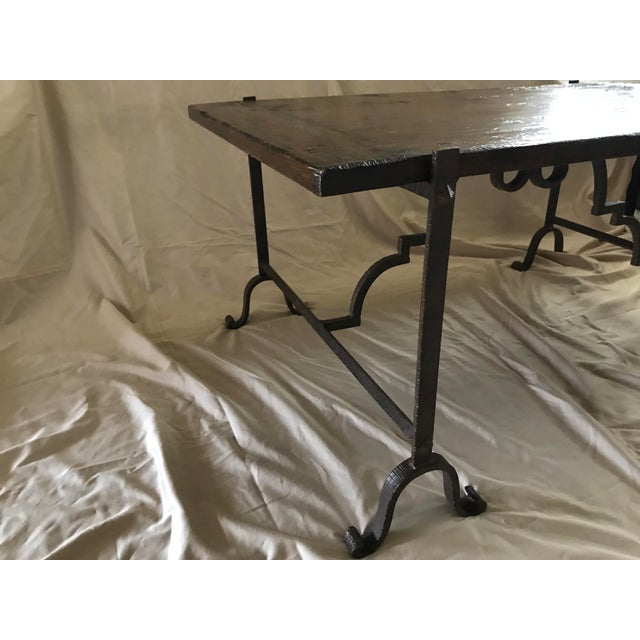 Wood & Iron Coffee Table - Image 6 of 7