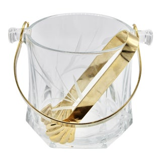 Mid-20th Century Italian Champagne Ice Bucket With Tongs For Sale