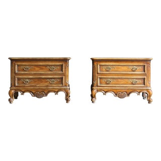 Late 20th Century French Provincial Nightstands - a Pair For Sale