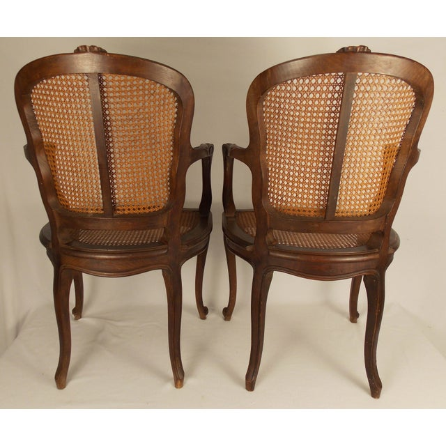 Louis XV Style Caned Chairs - A Pair - Image 5 of 6