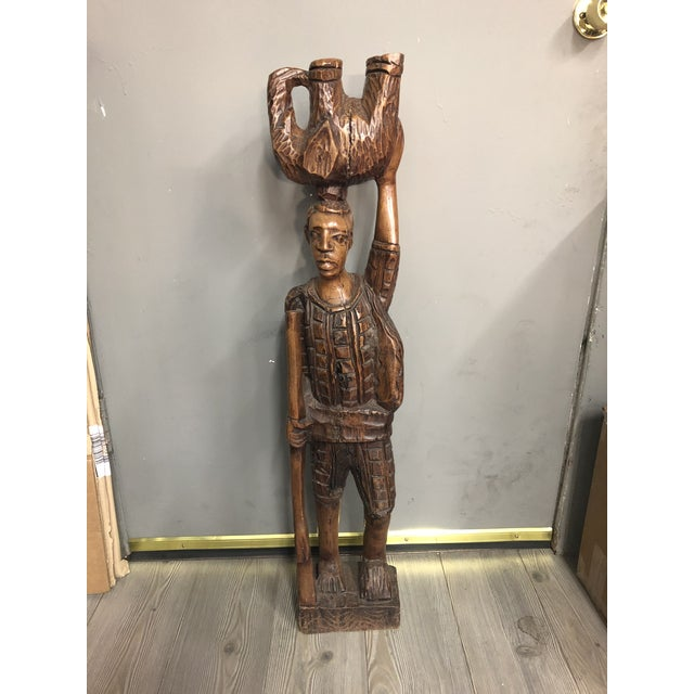Vintage Carved Wood African Tribal Sculpture For Sale In Los Angeles - Image 6 of 6
