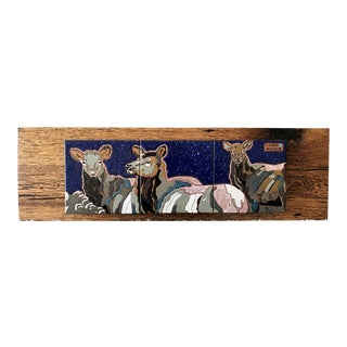 """Snow Maidens"" Elk Tile Wall Hanging For Sale"