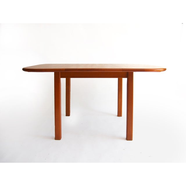 Vintage Mid-Century Modern Teak Extending Dining Table by D-Scan For Sale - Image 4 of 11