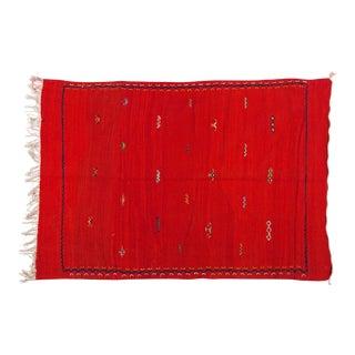 "Red Tribal Minimalist Pattern Berber Rug-3'6'x5"" For Sale"