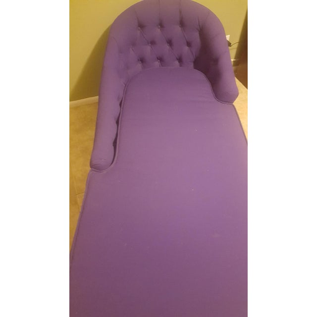 1970s 1970s Contemporary Refinished Eggplant Chaise For Sale - Image 5 of 6