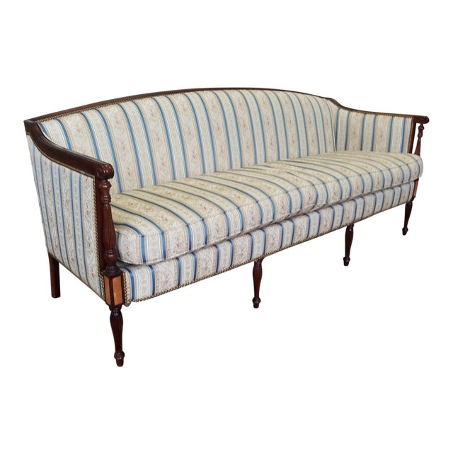Fantastic Hickory Chair Company James River Collection Sheraton Mahogany Sofa For Sale
