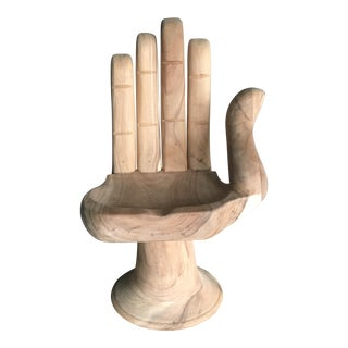 Teak Hand Shaped Chair