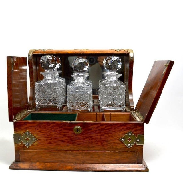 Mid 19th Century English Tantalus by Branah London - 4 Pieces For Sale In New York - Image 6 of 12