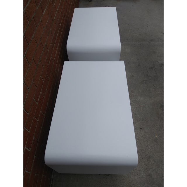 1970s Vintage Space Age Karl Springer Style Nightstands-a Pair For Sale - Image 10 of 13