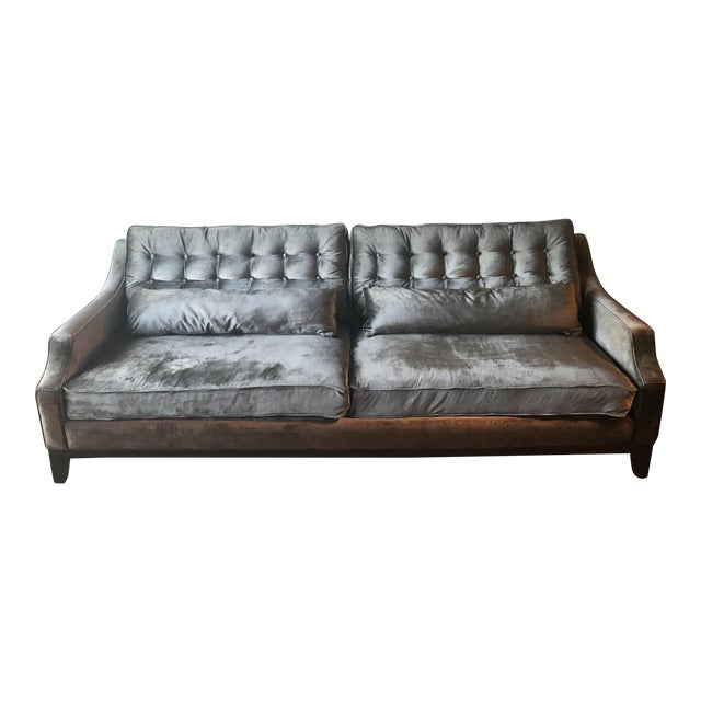 Z Gallerie Charcoal Sofa - Image 1 of 5