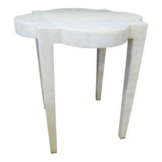 Minimalist Medallion Stone Side Table For Sale
