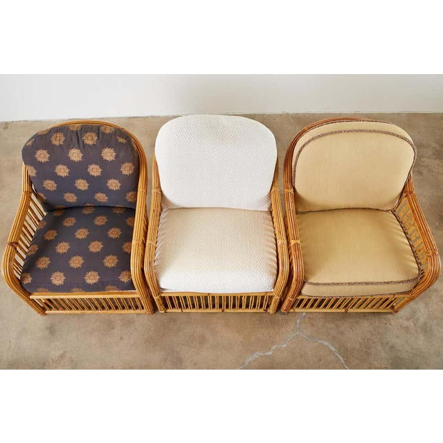 Michael Taylor Set of Eight Michael Taylor Organic Modern Bamboo Lounge Chairs For Sale - Image 4 of 13