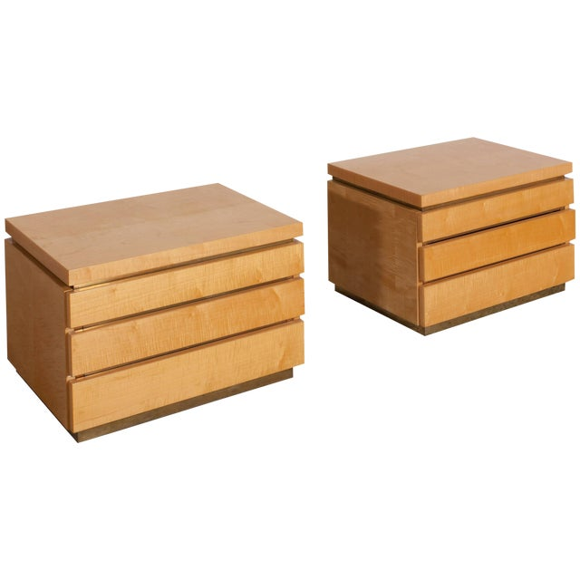 Jean Claude Mahey Bed Side Tables For Sale