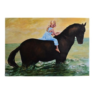 Child on a Chestnut Mare For Sale