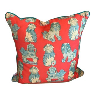 Cotton and Quill Pillow - Shi Shi Pattern For Sale