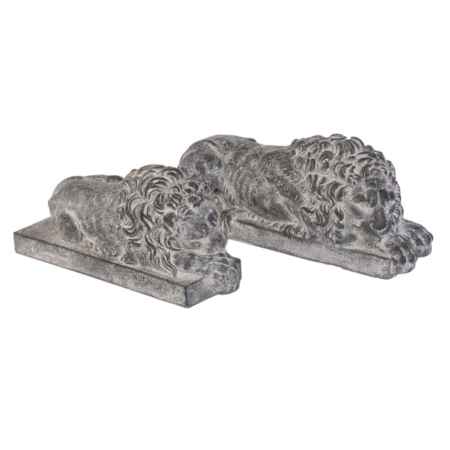 Sarreid LTD Lions of Courage - A Pair - Image 1 of 8