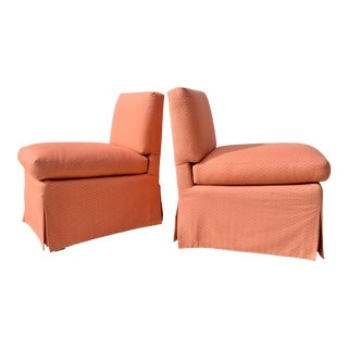 Billy Baldwin Slipper Chairs, Pair For Sale