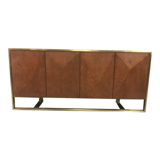 Cleo Spike Wood Cabinet in Brown For Sale