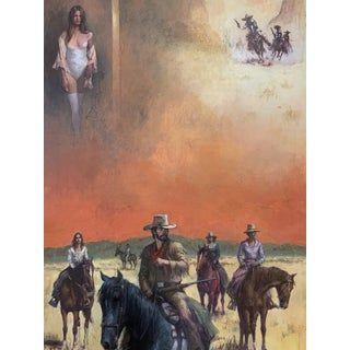 Jerome Podwill Western Painting For Sale