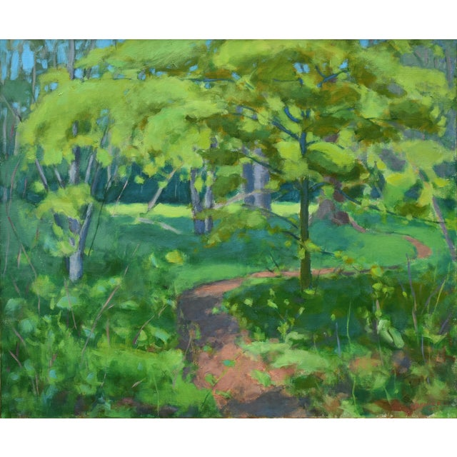 "Stephen Remick ""S-Curve by the Beech Tree"" Landscape Painting For Sale - Image 11 of 11"