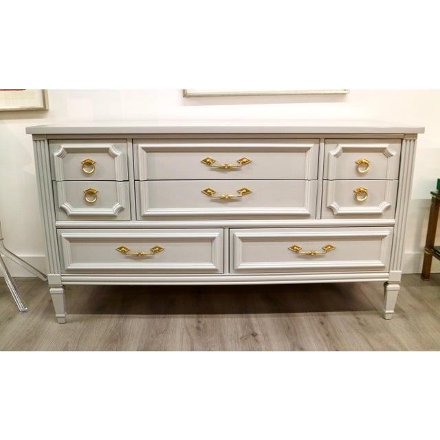 Vintage Grey Custom Lacquered Chest - Image 7 of 7