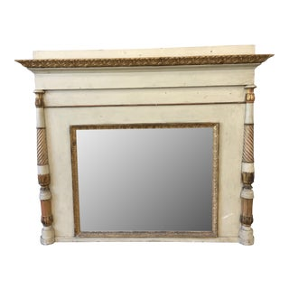 Italian Gilt Wood Framed Mantel Mirror - 19th C For Sale