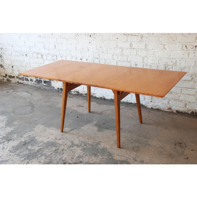 Mid-Century Modern Jens Risom Mid-Century Modern Maple Dining Table For Sale - Image 3 of 11