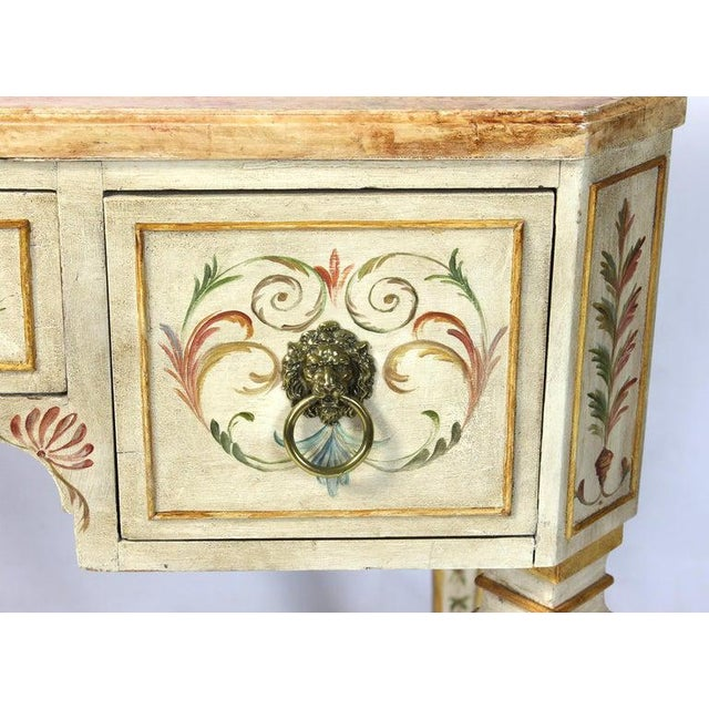 Neoclassical Style Painted Dressing Table or Desk For Sale - Image 10 of 13