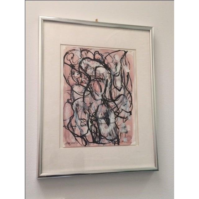 Laura Yang Ink Painting Seashell - Image 2 of 5
