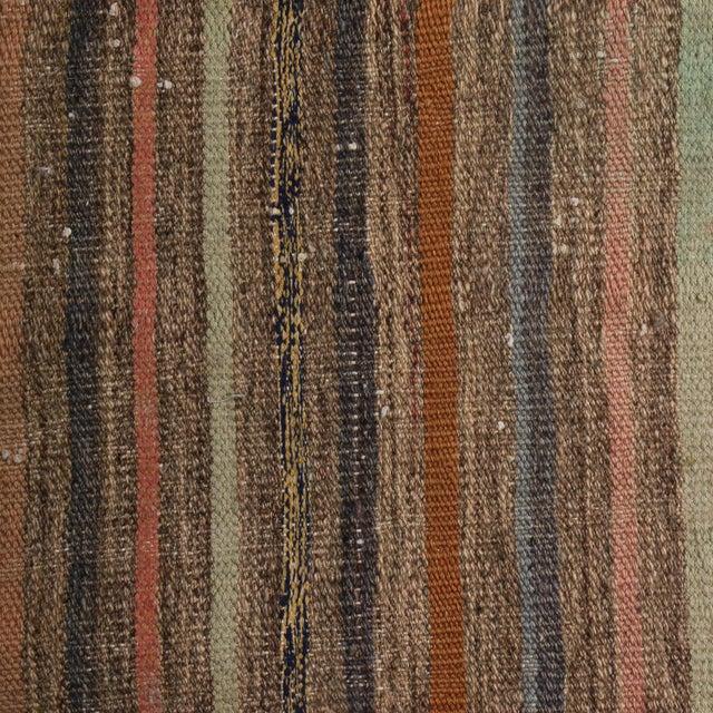 Rug & Kilim Vintage Geometric Striped Beige Brown and Multicolor Wool Kilim Rug For Sale - Image 4 of 6