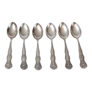 Sterling Silver Demitasse Spoons - Set of 6 For Sale