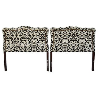 Transitional Upholstered Twin Headboards - A Pair