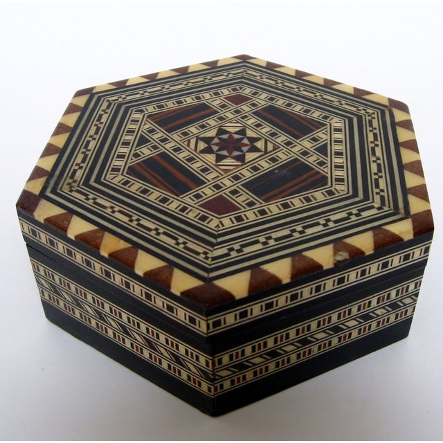 Boho Chic Inlay Wood Box - Image 4 of 8