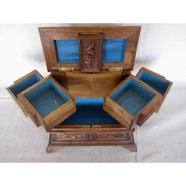 19 Century Black Forest Jewelry Box For Sale - Image 9 of 12