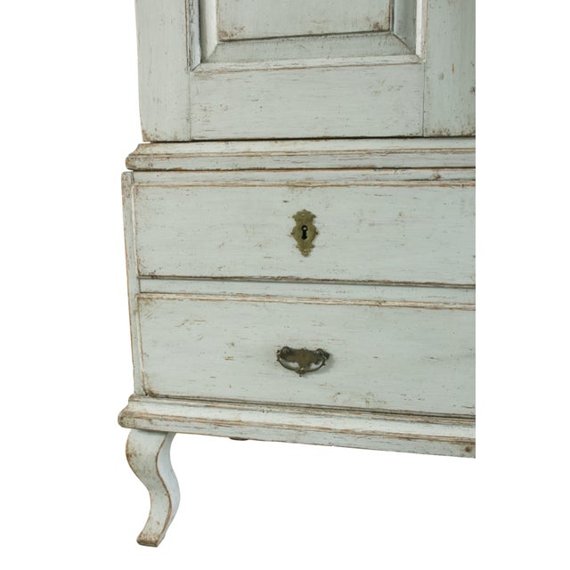 Wood 18th C. Swedish Rococo Cabinet For Sale - Image 7 of 10