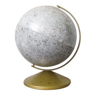 1970s Industrial Replogle Lunar Globe For Sale