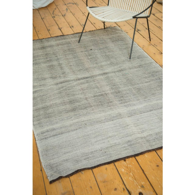 """Textile Vintage Flatwoven Reversible Wool Rug - 4'2"""" X 6'5"""" For Sale - Image 7 of 8"""