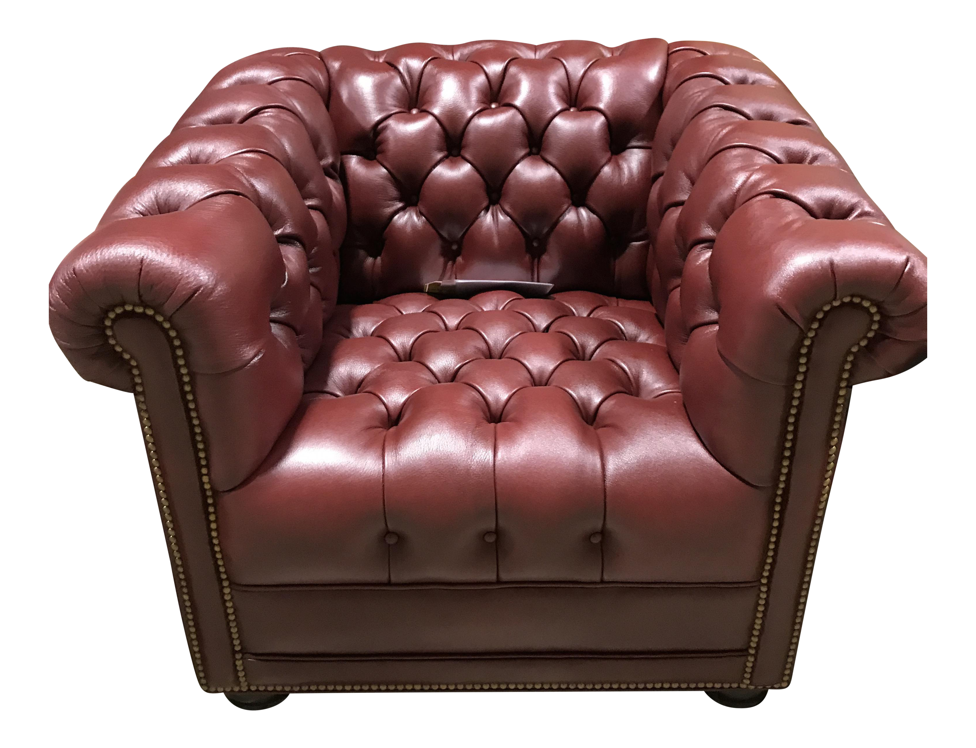 Brand New Hancock And Moore Chesterfield Leather Tufted Chair