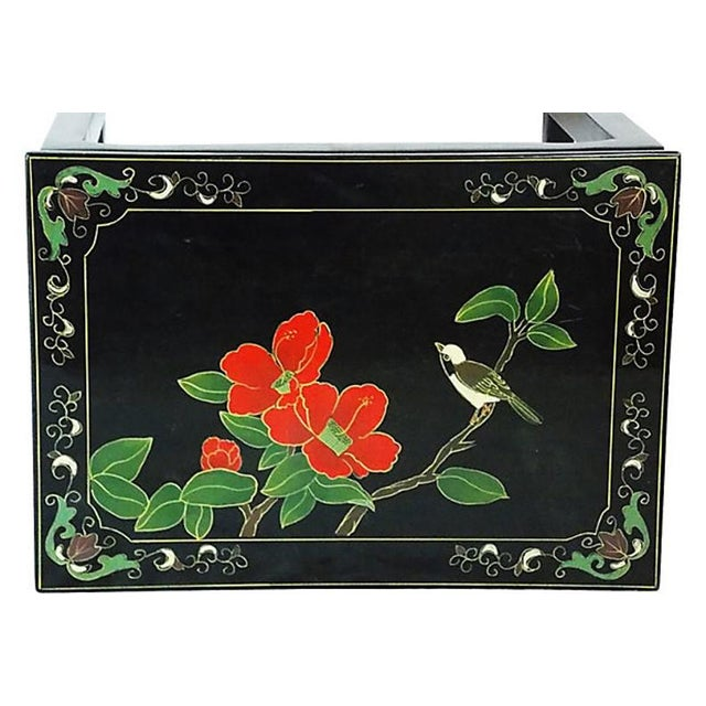 1970s Asian Lacquered Nesting Tables - a Pair For Sale - Image 4 of 8