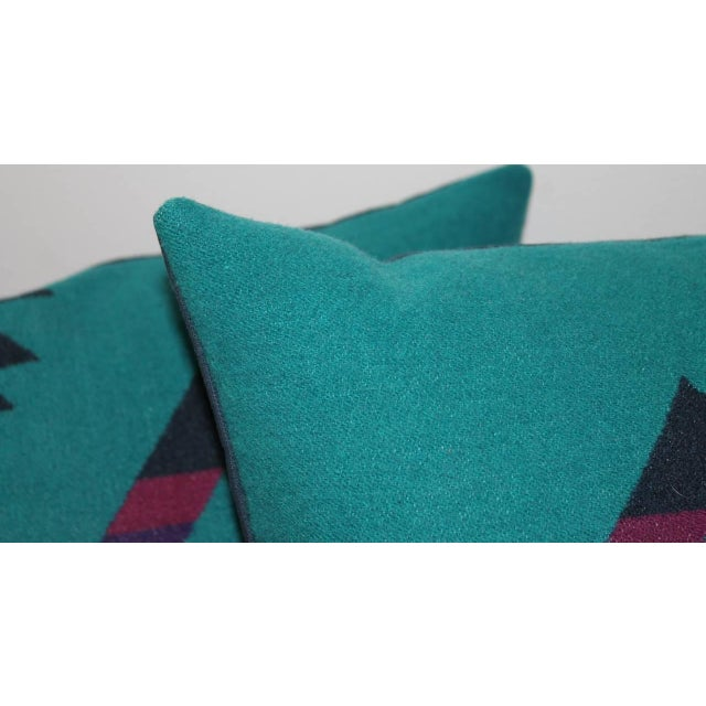 Adirondack Pair of Amazing Cayuse Pendleton Indian Blanket Pillows For Sale - Image 3 of 5