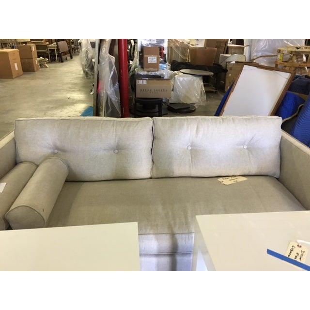 Contemporary Linen Sofa - Image 4 of 9