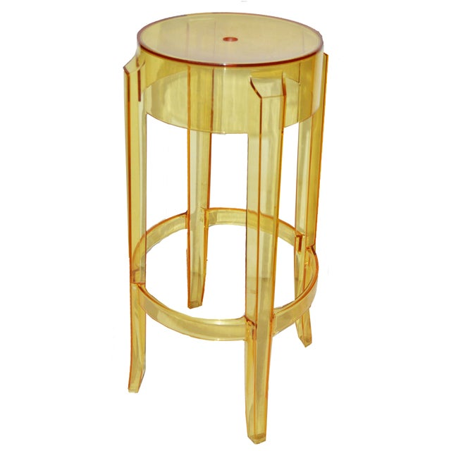 """Philippe Starck Vintage P. Starck Model """"Ghost"""" Stools -- Set of 4 For Sale - Image 4 of 5"""