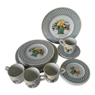 Villeroy & Boch Porcelain Service for 4 Dinnerware - 20 Pieces For Sale