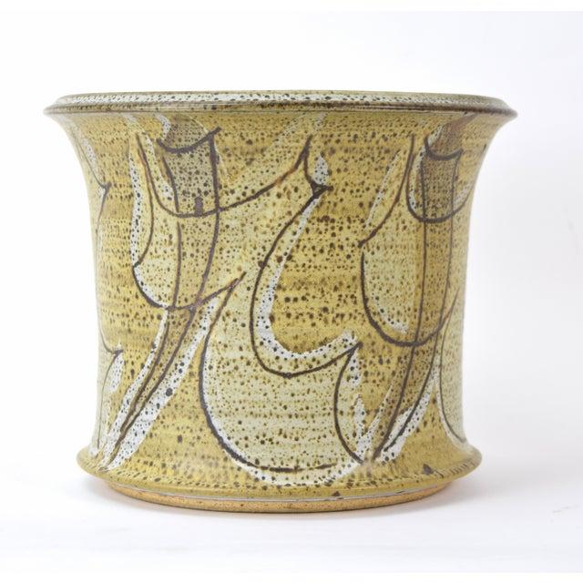 Mid-Century Modern Vintage Alan Vigland Mid Century Modern Studio Pottery Vase For Sale - Image 3 of 11