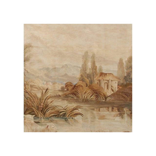 Mid 19th Century 19th Century Antique Tapestry Cartoon by François Boucher For Sale - Image 5 of 6