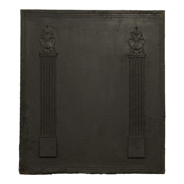 Fireback With Two Large Pillars For Sale